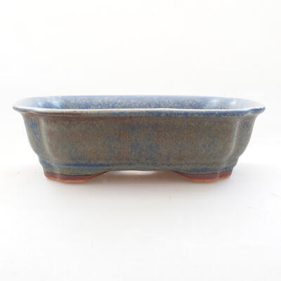 Ceramic bonsai bowl 15 x 12 x 4.5 cm, color blue - 1