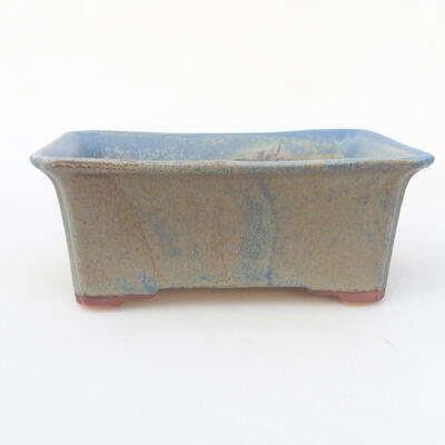 Ceramic bonsai bowl 18 x 14 x 7 cm, color blue - 1