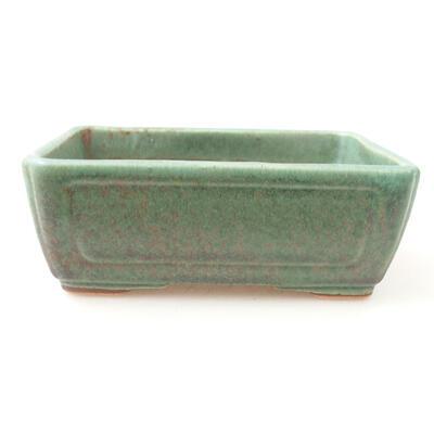 Ceramic bonsai bowl 12.5 x 9 x 4.5 cm, color green - 1