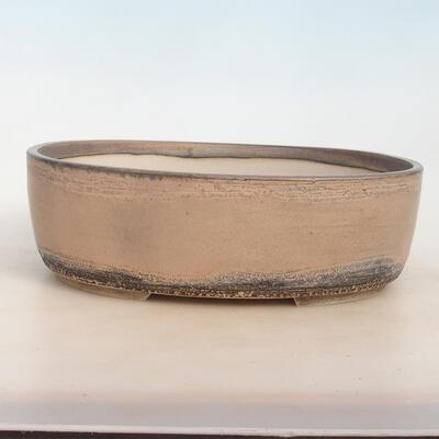 Bonsai bowl 31 x 24 x 10 cm, gray-beige color - 1