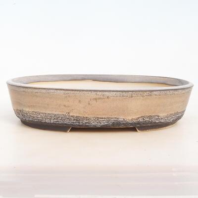 Bonsai bowl 33 x 25 x 7.5 cm, gray-beige color - 1
