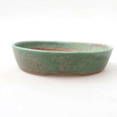 Ceramic bonsai bowl 17 x 14 x 3.5 cm, color green - 1