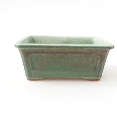 Ceramic bonsai bowl 13 x 10 x 5 cm, color green - 1
