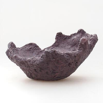 Ceramic Shell 21 x 20 x 16 cm, gray color - 1
