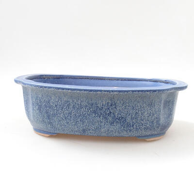 Ceramic bonsai bowl 23 x 20 x 7 cm, color blue - 1
