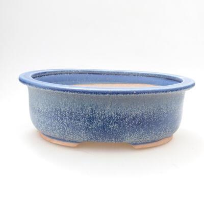 Ceramic bonsai bowl 22 x 17.5 x 7.5 cm, color blue - 1