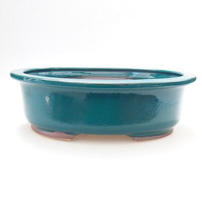 Ceramic bonsai bowl 25 x 20.5 x 8 cm, color green - 1