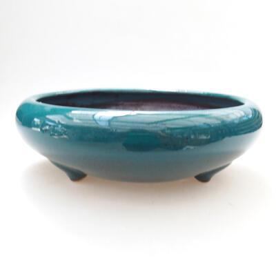 Ceramic bonsai bowl 21 x 21 x 7 cm, color green - 1