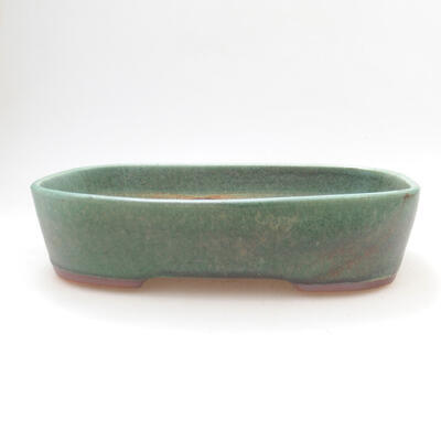 Ceramic bonsai bowl 23 x 18 x 5.5 cm, color green - 1