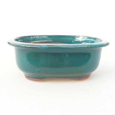 Ceramic bonsai bowl 14 x 11 x 5.5 cm, color green - 1