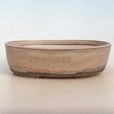 Bonsai bowl 29 x 23 x 8.5 cm, gray-beige color - 1
