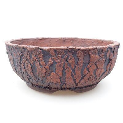 Ceramic bonsai bowl 17 x 17 x 6.5 cm, color cracked - 1