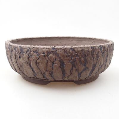 Ceramic bonsai bowl 20 x 20 x 6.5 cm, color cracked - 1