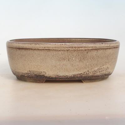 Bonsai bowl 27 x 20 x 9 cm, gray-beige color - 1