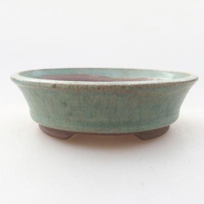 Ceramic bonsai bowl 9.5 x 9.5 x 2.5 cm, color green - 1