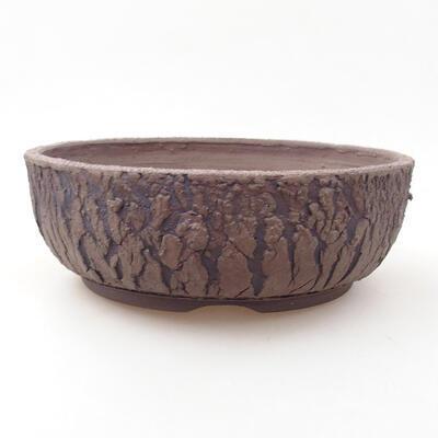 Ceramic bonsai bowl 21 x 21 x 7 cm, color cracked - 1