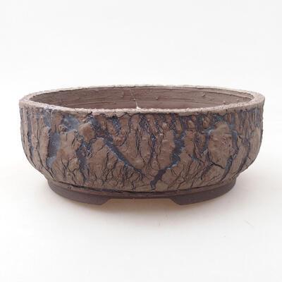 Ceramic bonsai bowl 18.5 x 18.5 x 7 cm, cracked color - 1
