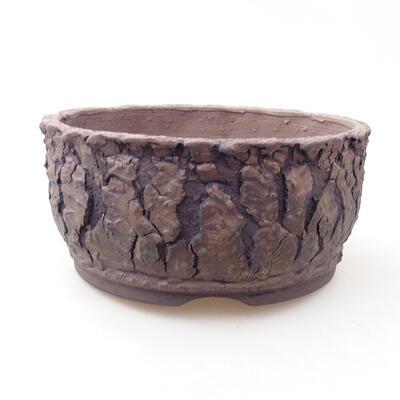 Ceramic bonsai bowl 17 x 17 x 8 cm, color cracked - 1