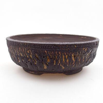Ceramic bonsai bowl 18.5 x 18.5 x 6 cm, color cracked - 1