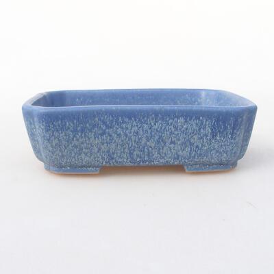 Ceramic bonsai bowl 15 x 11.5 x 4 cm, color blue - 1