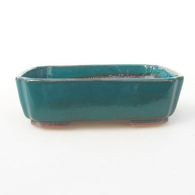 Ceramic bonsai bowl 15 x 11.5 x 4 cm, color green - 1