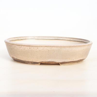 Bonsai bowl 25 x 19 x 5.5 cm, color beige-gray - 1