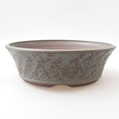 Ceramic bonsai bowl 24 x 24 x 7.5 cm, color blue - 1