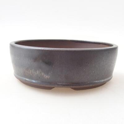 Ceramic bonsai bowl 14 x 14 x 4.5 cm, metal color - 1