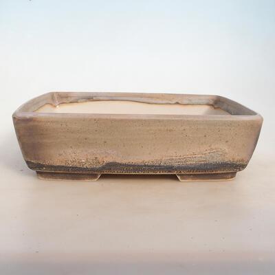Bonsai bowl 30 x 23 x 8.5 cm, color beige-gray - 1