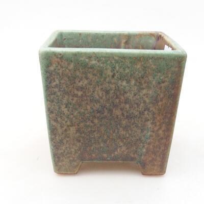 Ceramic bonsai bowl 8.5 x 8.5 x 8.5 cm, color green - 1
