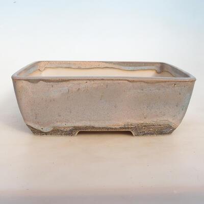 Bonsai bowl 31 x 23.5 x 10.5 cm, color beige-gray - 1