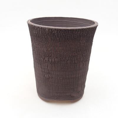 Ceramic bonsai bowl 13.5 x 13.5 x 15.5 cm, color cracked - 1