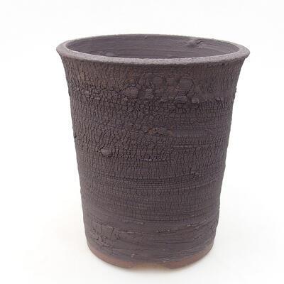 Ceramic bonsai bowl 13.5 x 13.5 x 15 cm, cracked color - 1