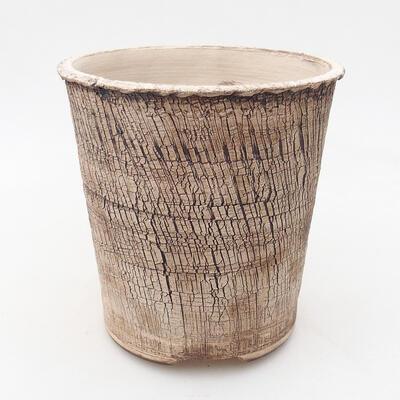 Ceramic bonsai bowl 14 x 14 x 14.5 cm, color cracked - 1