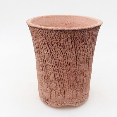 Ceramic bonsai bowl 12 x 12 x 14 cm, color cracked - 1