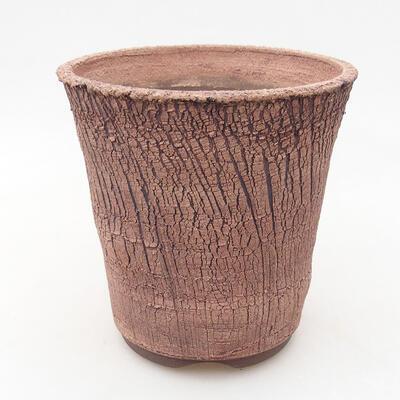 Ceramic bonsai bowl 13.5 x 13.5 x 14 cm, color cracked - 1