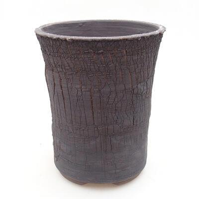 Ceramic bonsai bowl 14 x 14 x 17 cm, color cracked - 1