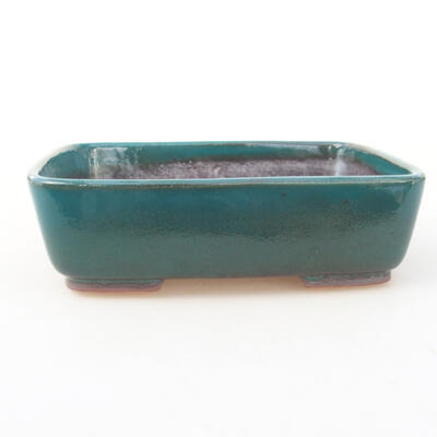 Ceramic bonsai bowl 15 x 12 x 4.5 cm, color green - 1
