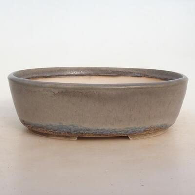 Bonsai bowl 24 x 19.5 x 7.5 cm, gray-beige color - 1