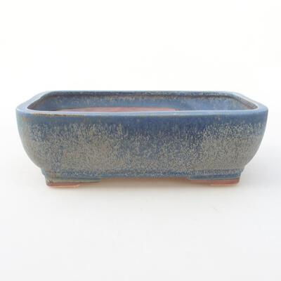 Ceramic bonsai bowl 21 x 16 x 6.5 cm, color blue - 1