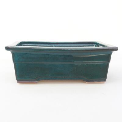 Ceramic bonsai bowl 20 x 14.5 x 7 cm, color green - 1