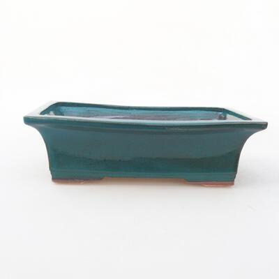 Ceramic bonsai bowl 20 x 15.5 x 6 cm, color green - 1