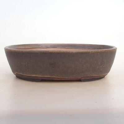 Bonsai bowl 26 x 20 x 7.5 cm, color brown - 1