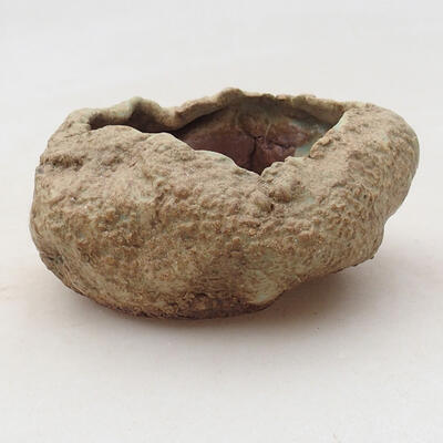 Ceramic shell 6 x 6 x 4.5 cm, color brown-green - 1