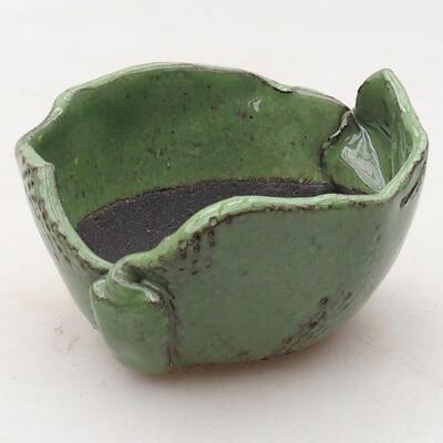 Ceramic shell 7.5 x 7.5 x 5 cm, color green - 1