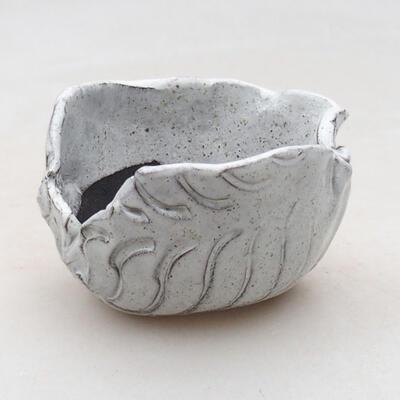 Ceramic shell 7.5 x 7 x 5 cm, white color - 1