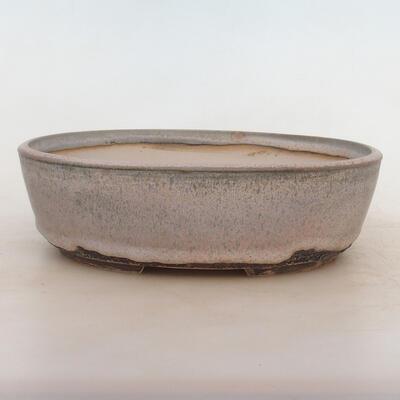 Bonsai bowl 24 x 19 x 7 cm, gray-beige color - 1
