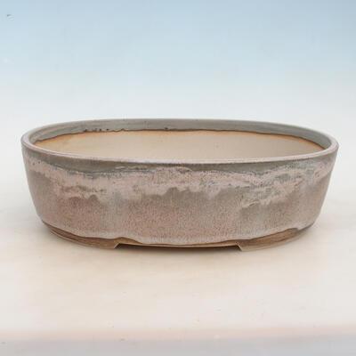 Bonsai bowl 37 x 28 x 10.5 cm, gray-beige color - 1