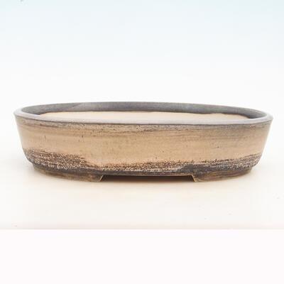 Bonsai bowl 33 x 25 x 7 cm, gray-beige color - 1
