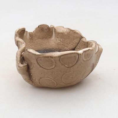 Ceramic shell 8 x 7 x 5 cm, beige color - 1